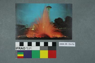 Postcard: International Fountain, Seattle Center
