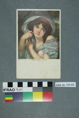 Postcard: Head of a Girl