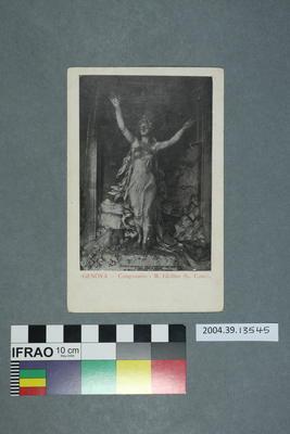 Postcard: Genova, Camposanto, M. Ghilino