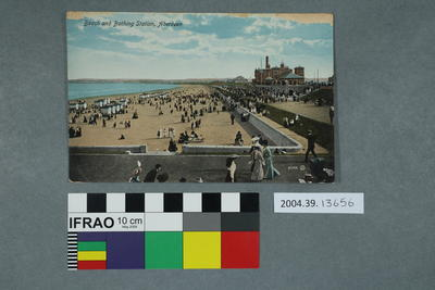 Postcard: Beach and Bathing Station, Aberdeen
