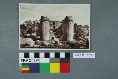 Postcard: Nunney Castle and Parish Church