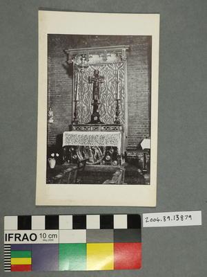 Postcard of an alter