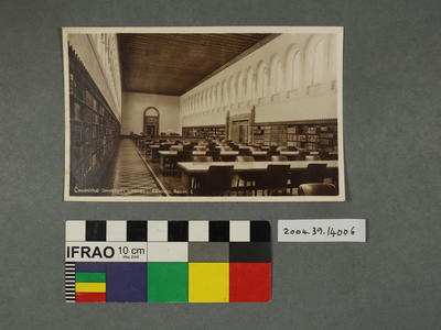 Postcard: Cambridge University Library, Reading Room 1