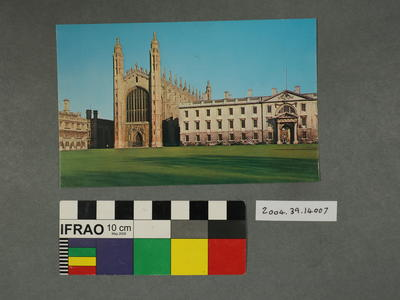 Postcard of King's College Chapel and Gibbs Building