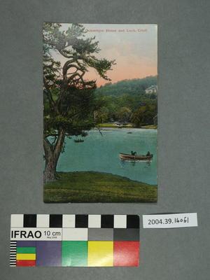 Postcard: Ochtertyre House and Loch, Crieff