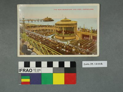 Postcard: The New Bandstand and Pier, Eastbourne