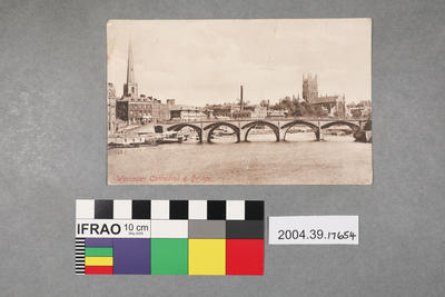 Postcard: Worcester Cathedral and Bridge