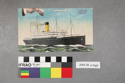 Postcard: Ship in open water