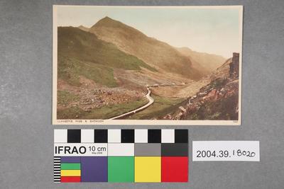 Postcard: Llanberis Pass and Snowdon