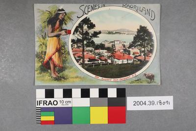 Postcard: Scenes in Maoriland