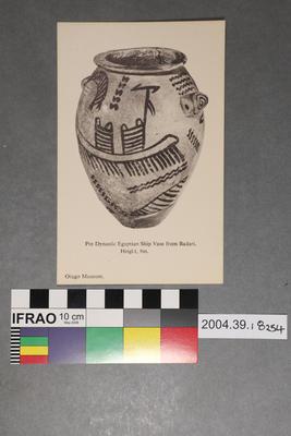 Postcard: Pre-Dynastic Egyptian Ship Vase from Badari