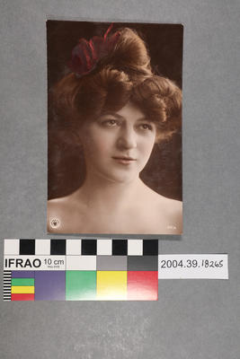 Postcard of a woman