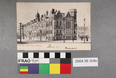 Postcard: Public Library
