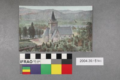 Postcard with a castle