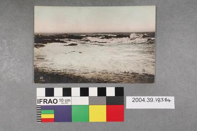 Postcard with an ocean