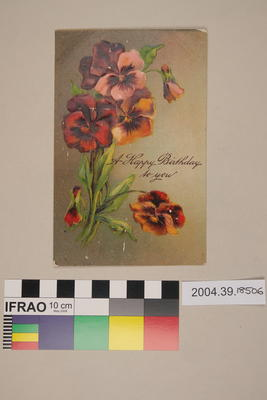 Postcard: A Happy Birthday to You