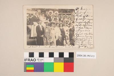 Postcard of a group of people in fancy dress