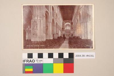 Postcard: Nave, St Albans Abbey