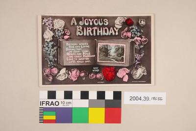 Postcard: A Joyous Birthday