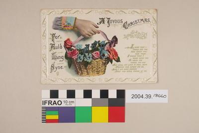 Postcard: A Joyous Christmas for Aul Lang Syne