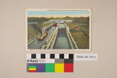 Postcard: General View of Miraflores Locks