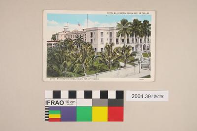 Postcard: Washington Hotel, Colon, Republic of Panama