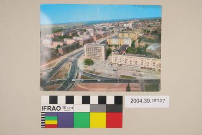 Postcard of city roads