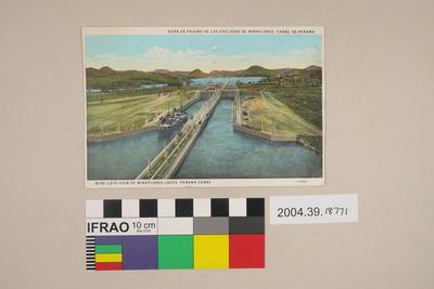 Postcard: Bird's Eye View of Miraflores Loks, Panama Canal