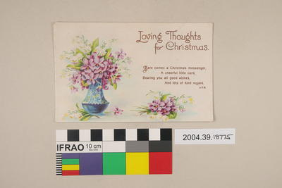 Postcard: Loving Thoughts for Christmas