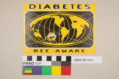 Postcard: Diabetes Bee Aware