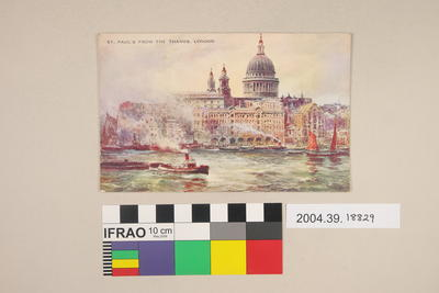 Postcard: St Paul's from the Thames, London