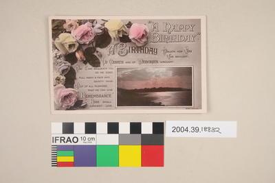 Postcard: A Happy Birthday