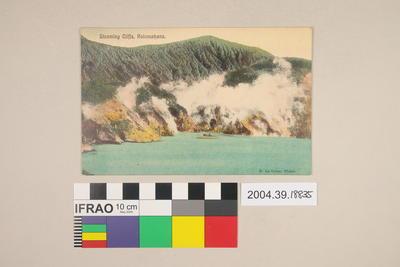 Postcard: Steaming Cliffs, Rotomahana