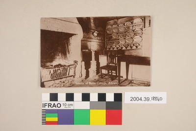 Postcard: Interior of Burns Cottage, Alloway