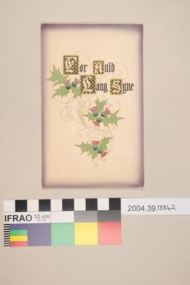 Postcard: For Auld Lang Syne