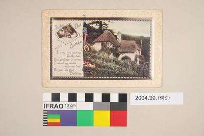 Postcard: To dear Dad on his Birthday
