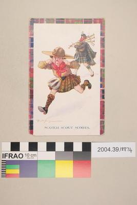 Postcard: Scotch Scout Scoots