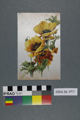 Postcard of yellow poppies