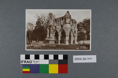 Postcard: Dryburgh Abbey, Tombs of Sir Walter Scott and Earl Haig