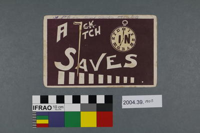 Postcard: A Stitch in Time Saves Nine