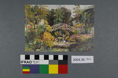 Postcard: Rock Garden, Compton Acres, Bournemouth