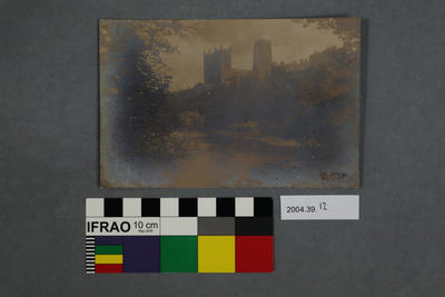 Postcard of a Castle on a River
