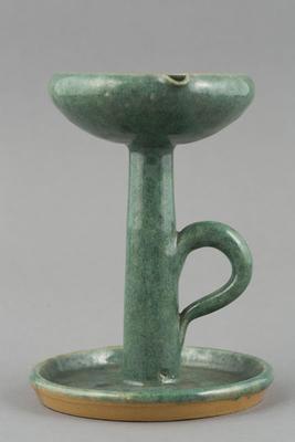 Ceramic: oil lamp