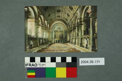 Postcard: Interior St. George's Hall, Liverpool