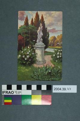 Postcard: Garden Statue