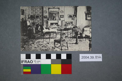 Postcard: Wellington Hotel, Boscastle, Cornwall, Corner of Drawing Room