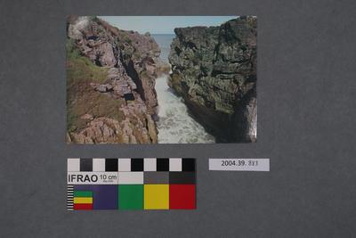 Postcard: Corridor To The Chimney Pot, Punakaiki Pancake Rocks, Buller, NZ