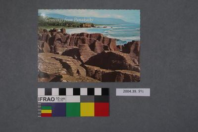Postcard: Greetings from Punakaiki, Pancake Rocks