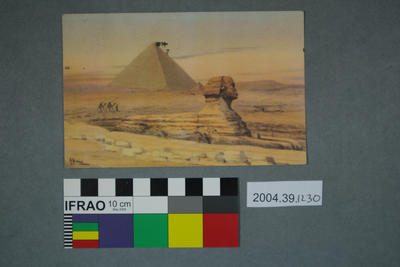 Postcard of the Pyramid of Giza and the Sphinx