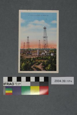 Postcard: A Typical Oklahoma Oil Field